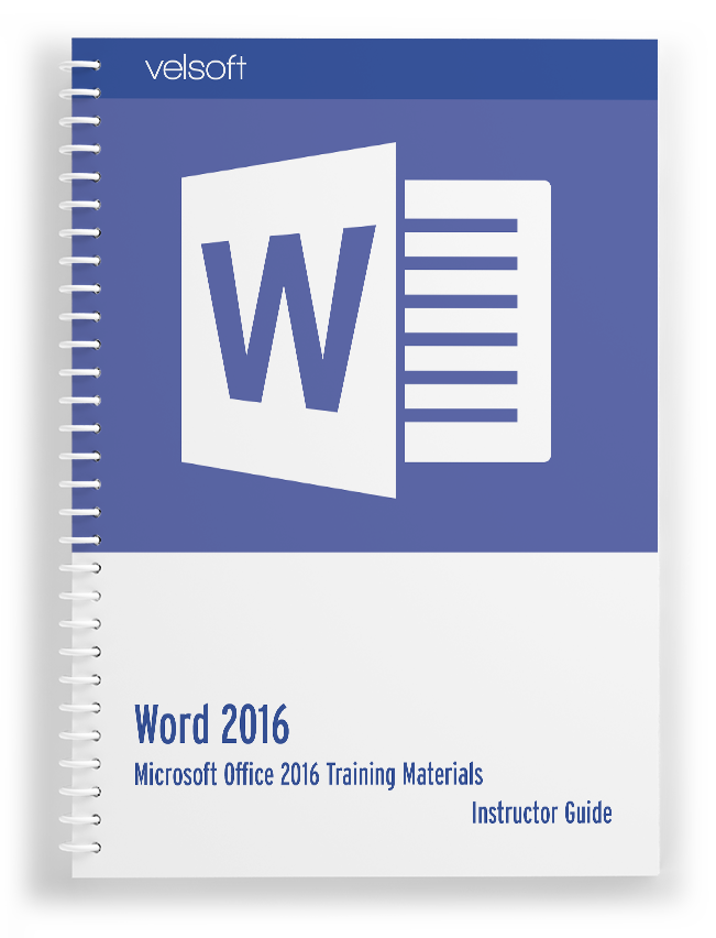 Courseware Slider – Word 2016