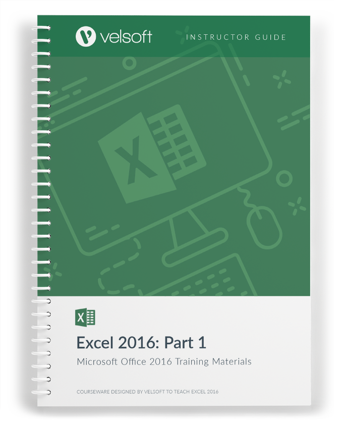 Customizable Excel 2016 Training Materials  Download A Free